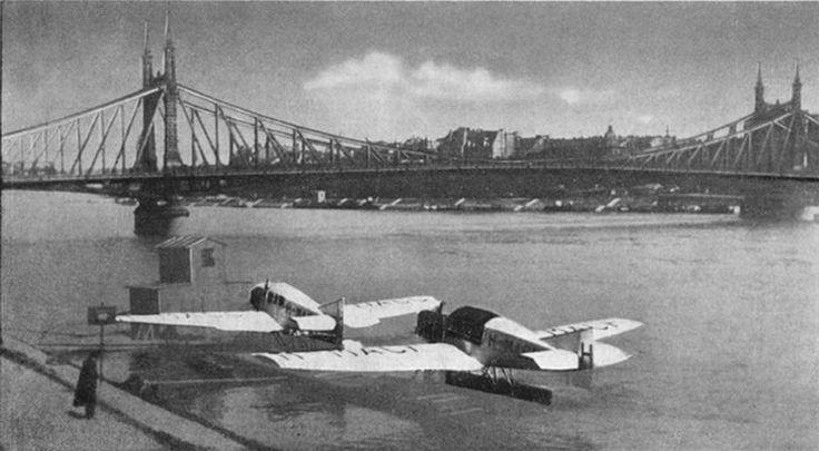 1923. Szabadság-híd és Junkers F-13 hidroplánok