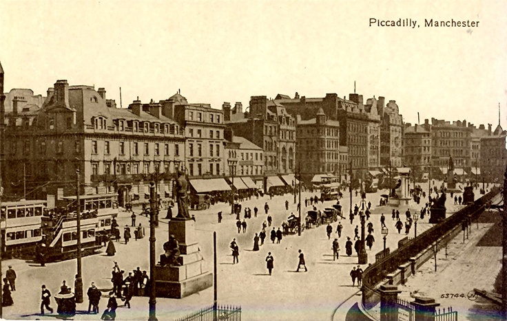 Old Postcard, Manchester, Piccadilly