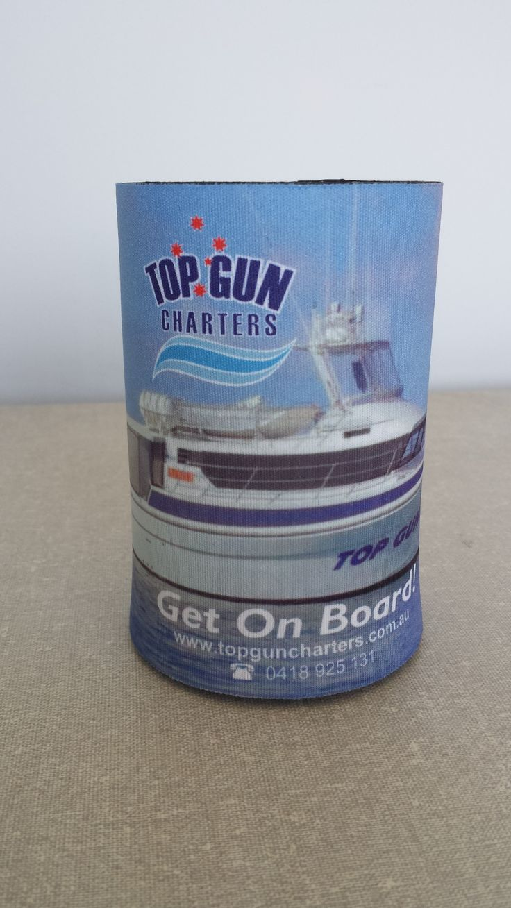 Stubby holder for Top Gun Charters