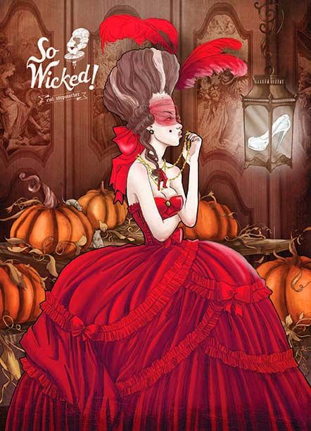 """Disney villain art created by Deviant Art user Hell-Stawarberry. The series is called """"So Wicked,"""" and it features villains from Snow White, 101 Dalmatians, Sleeping Beauty, Cinderella, Alice in Wonderland, The Little Mermaid, The Wizard of Oz, and Tangled."""