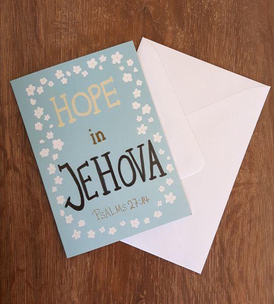 """Weiteres - """"Hope in Jehova"""" - Klappkarte mit Briefumschlag - ein Designerstück…"""
