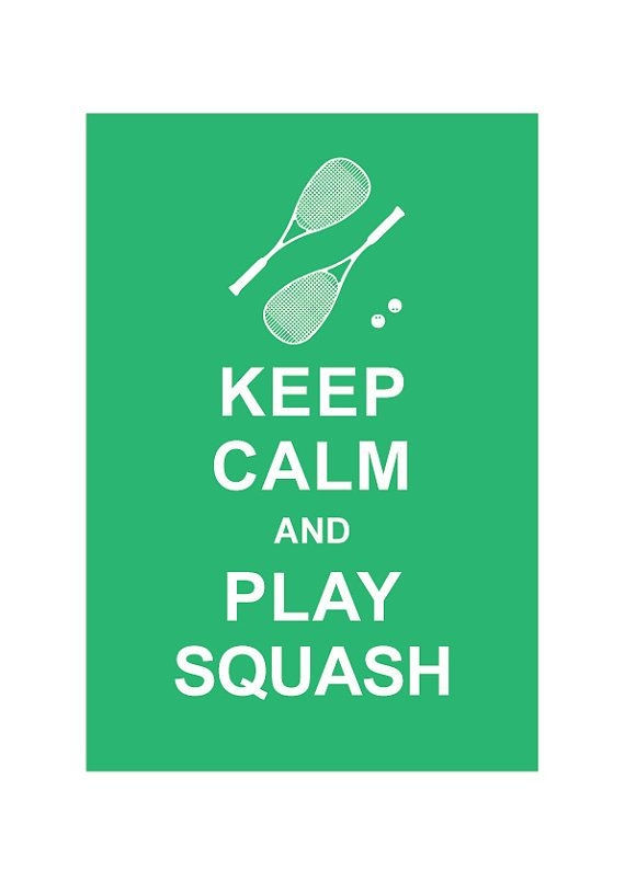 Keep Calm and Play Squash  Personalized by simplygiftsonline, $10.80