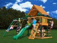 Gorilla Playsets Caribou Kids Outdoor Wooden Playset Home And Patio Decor  Center