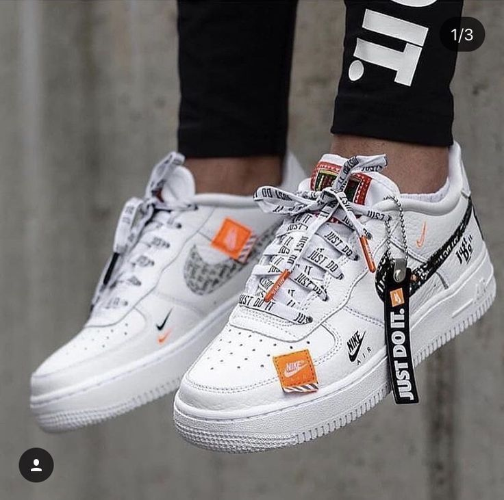 nike just do it air force 1's | Sapatilhas nike, Tenis ...
