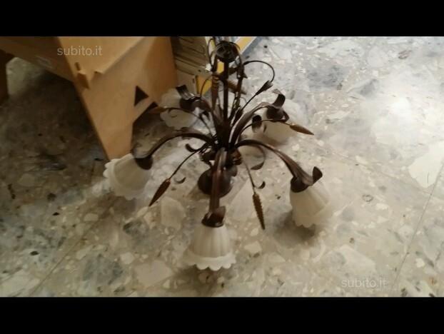 Lampadario in ferro battuto - Arredamento e Casalinghi In vendita a Modena