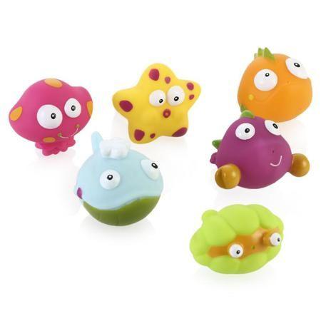 Игрушки для купания BabyOno Подводный мир  — 1190р. ------------ Игрушки для купания BabyOno - красочные представители подводного мира. Шесть красочных малюток готовы принимать водные процедуры вместе с маленьким исследователем, который только начинает познавать этот мир. Привлекательный дизайн не оставит равнодушным ни родителей, ни кроху, а рельефная форма поспособствует развитию мелкой моторики рук и тактильных ощущений.