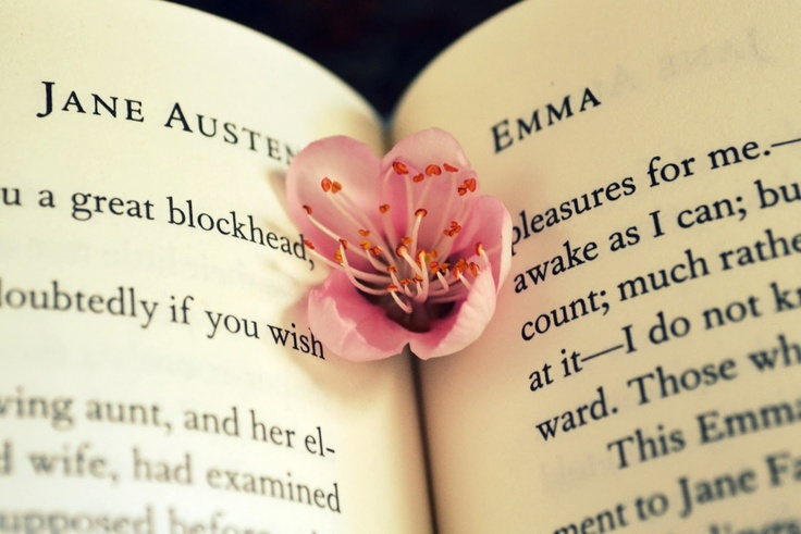 Jane Austen's Emma, adorned with a blossom