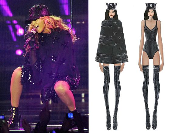 Beyonce World tour outfits