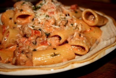 Deep South Dish: Sausage with Rigatoni in Tomato Cream Sauce {I wanted to take a bath in this sauce. Seriously. You will want to lick your bowl it's so good}