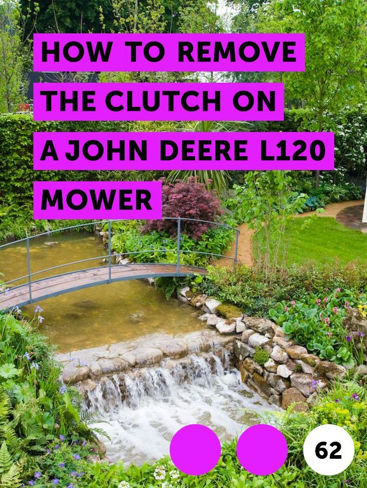 How to Remove the Clutch on a John Deere L120 Mower | Lawn Mowers