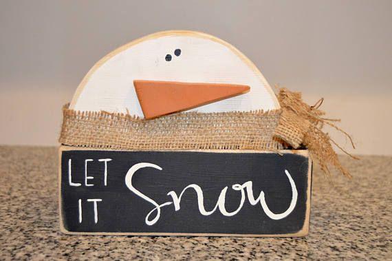 Winter Decor/Let It Snow Blocks