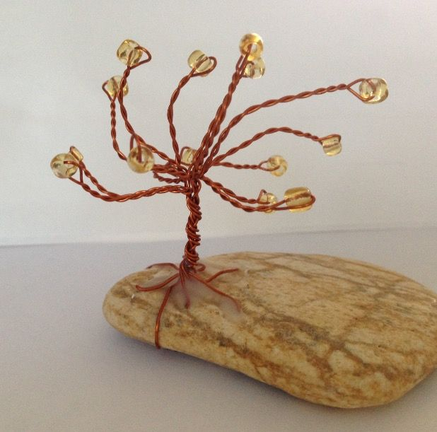 Handmade wire tree