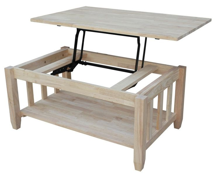 Mission Lift Top Hardwood Coffee Table 42 Quot Mark424 In