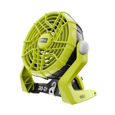 Ryobi One+ cordless portable fan. This little powerhouse is fabulous for travel with dogs. It flips in a multitude of directions, has a hook for hanging & a thick sturdy casing keeping the fan blades safely protected. With the Ryobi lithium-ion battery it