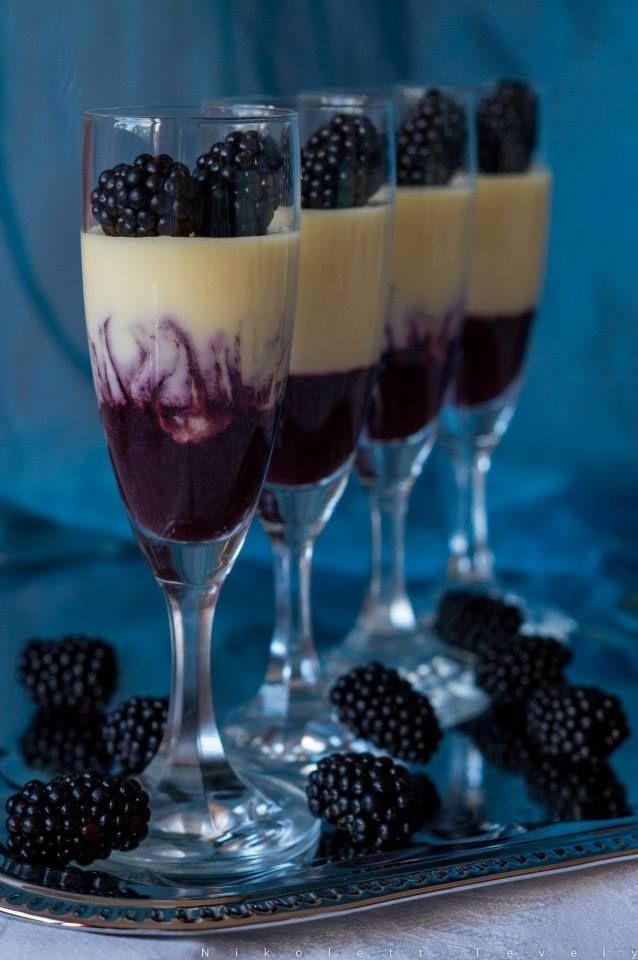Panna Cotta with blackberries