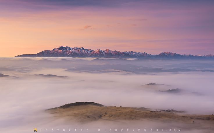 """Foggy sea""  Trzy Korony (Okrąglica), NP Pieniny Mountains, Poland"