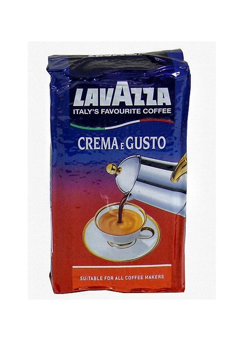 Kawa Lavazza Crema e Gusto  Kawa Lavazza Crema e Gusto jest mieszanką o intensywnym, długo wyczuwalnym smaku. Jest wypalana z ziaren arabiki pochodzących z plantacji południowoamerykańskich i indonezyjskich oraz z ziaren robusty pochodzenia afrykańskiego.