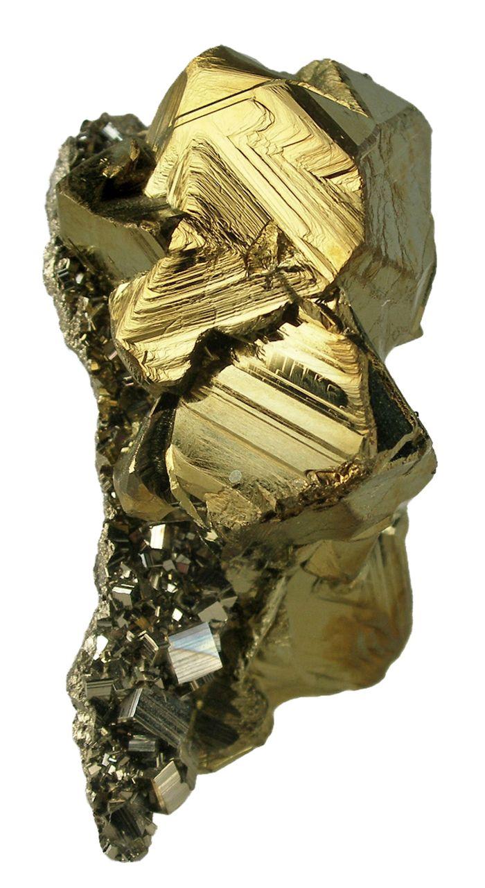 Chalcopyrite, Pyrite. Recuerdo Vein, Huanzala Mine, Huallanca District, Dos de Mayo Province, Huanuco Department, Peru. 4.7 x 3.9 x 3.5 cm