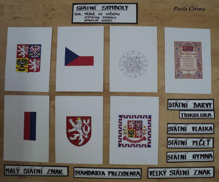 Státní symboly - přiřazovací kartičky k obrázkům státních symbolů (CDH - Máme rádi Česko)