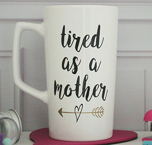 Thinking of adding this mug to my growing collection of mom coffee mugs. Coffee is always better out of a cute mug!