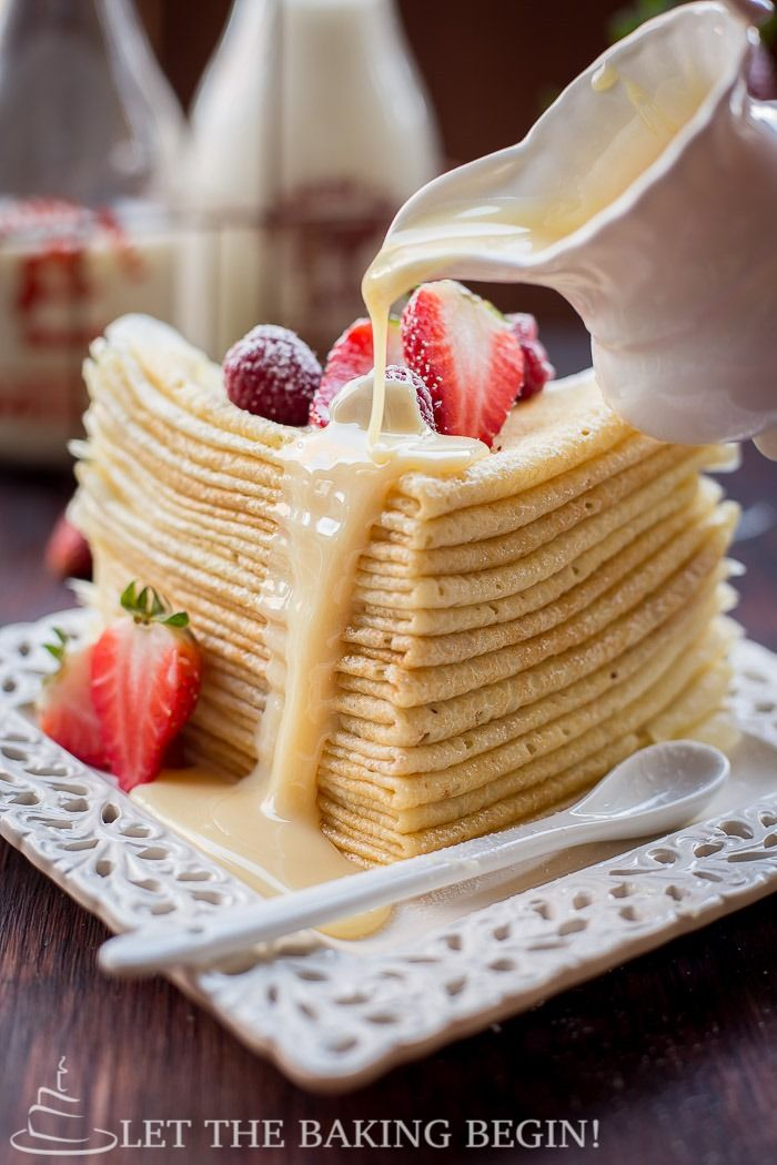 With several of my latest posts being for crepe recipes you can see that I've been on a crepe kick lately. Today I wanted to share a recipe for buttermilk crepes that have a peculiar technique of making them. As you know, choux pastry (think of batter that makes cream puffs, eclairs) is just batter...