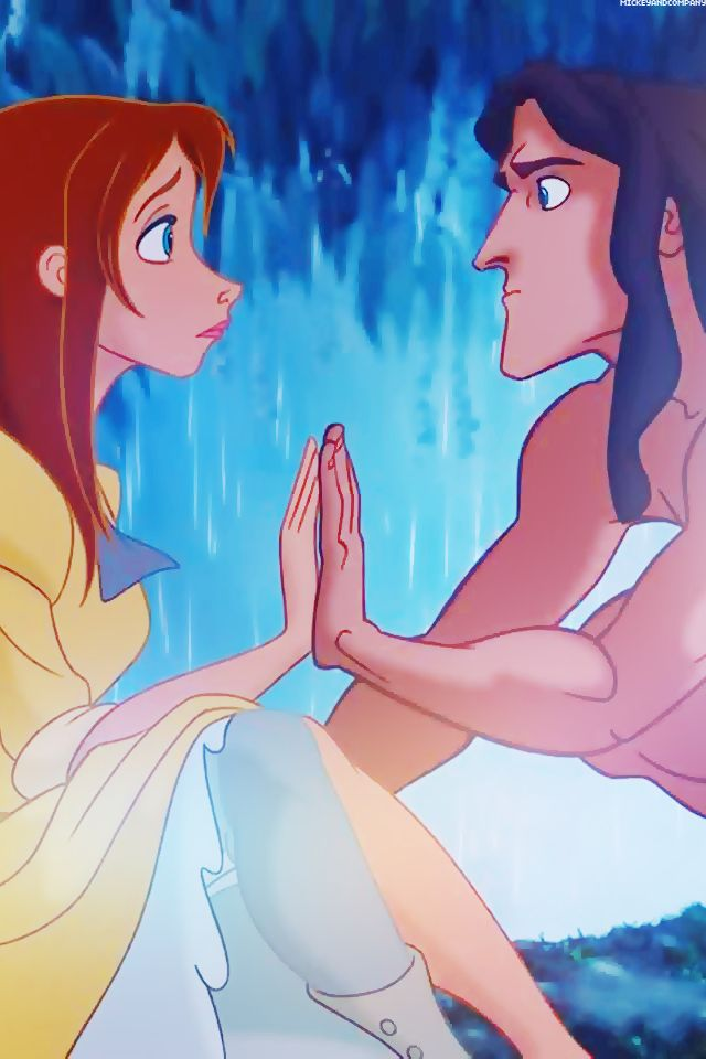 Tarzan and jane disney hands