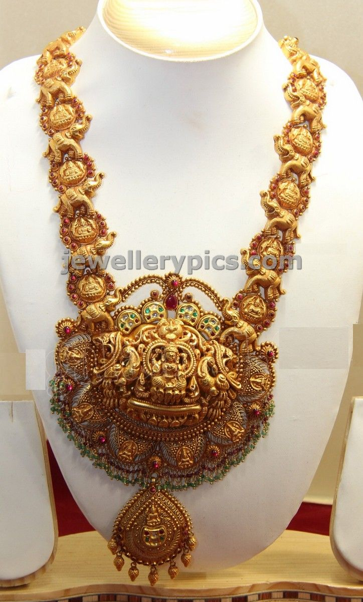 Pai jewellers gold necklace designs latest indian jewellery designs - Gold Pendent Deisgns By Abharan Jewellers Latest Jewellery Designs Download
