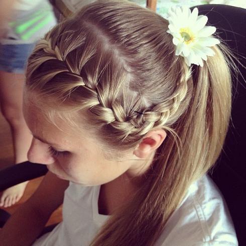 Flower Hair & Braid - Hairstyles How To