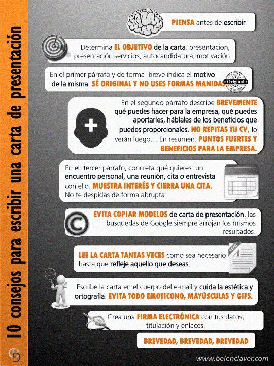 #Infografia #CommunityManager 10 consejos para una carta de presentación #TAVnews