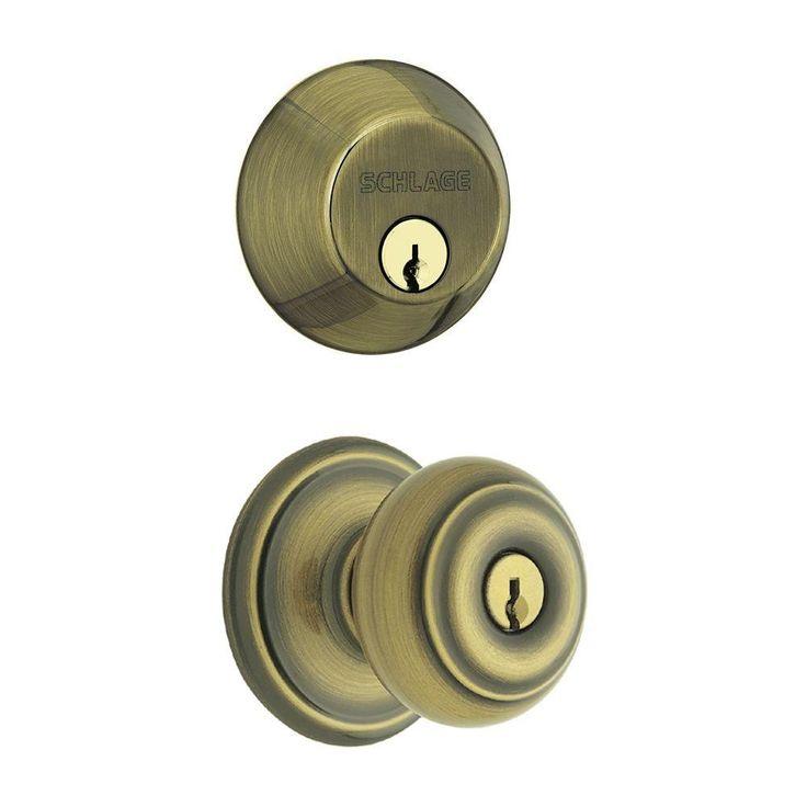Schlage Antique Brass Door Knobs
