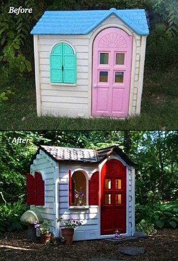 Redo Kids Play house DIY going to do this already got the house:)