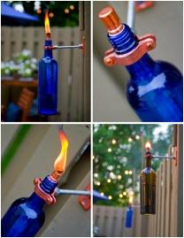 Recycled Wine Bottle Tiki Torches: Ideas, Bottle Download, Craft, Outdoor, Wine Bottle Torches, Tiki Torches, Wine Bottles, Diy