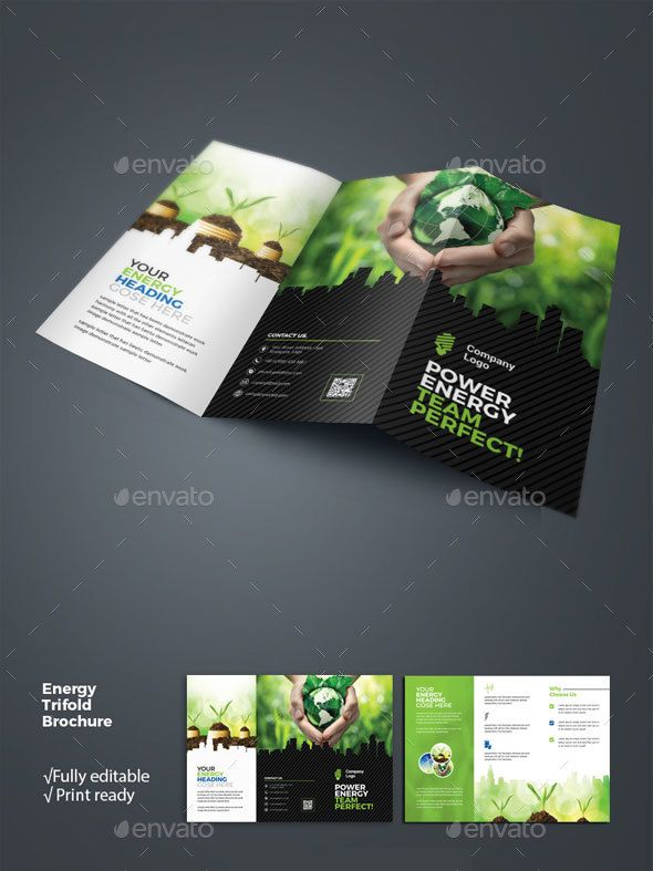 Energy Business Tri Fold Brochure Corporate Brochures
