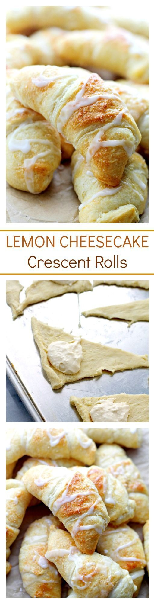 Lemon Cheesecake Crescent Rolls Recipe via Diethood - Super easy and incredibly soft Crescent Rolls filled with a sweet and delicious lemon and cream cheese mixture. The BEST Easy Lemon Desserts and Treats Recipes - Perfect For Easter, Mother's Day Brunch, Bridal or Baby Showers and Pretty Spring and Summer Holiday Party Refreshments!