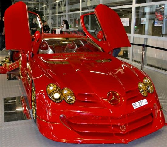 Bling Car: Mercedes SLR McLaren With 500 Rubies And 24K Gold that costs $4,300,000 to put together. ~LadyLuxury~