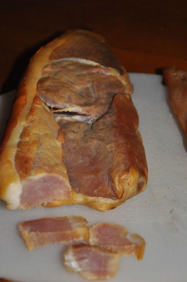 Fumer une rouelle de porc
