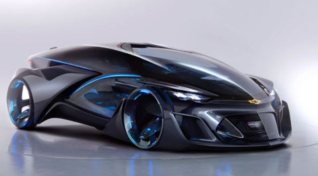 Future technology Concept the electric car Chevrolet FNR ...