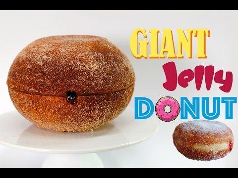 GIANT JELLY DONUT - Mega Jam Doughnut CAKE | Recipe by My Cupcake Addiction - YouTube
