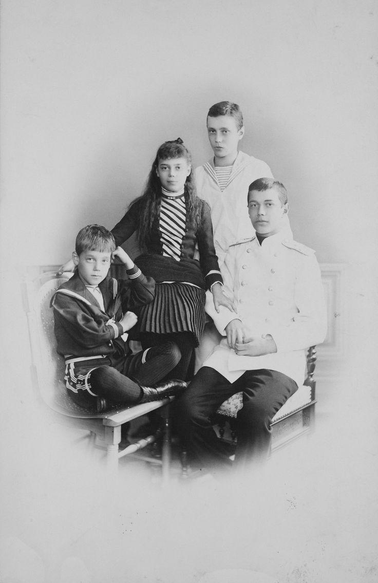Grand Duke Michael, Grand Duchess Xenia, Grand Duke George and Tsarevitch Nicholas | Royal Collection Trust