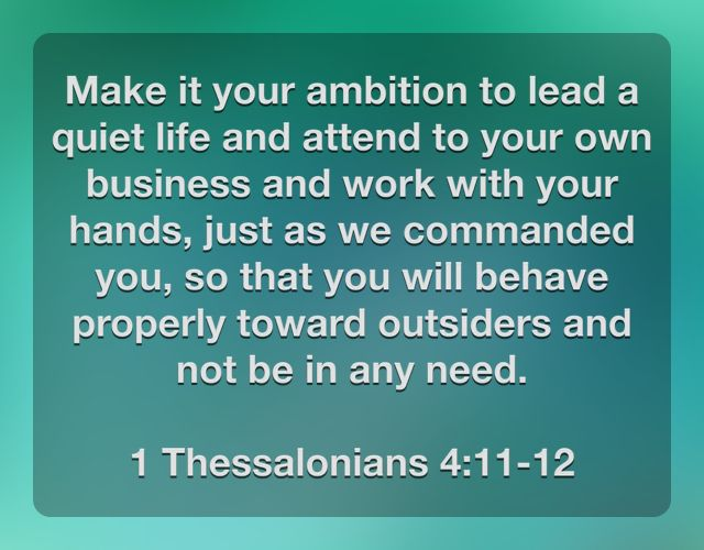 Mind Your Own Business Quotes From The Bible 79674 Loadtve