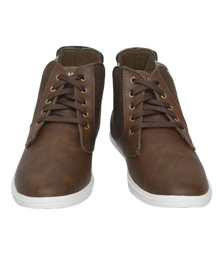 Le Men'z Brown Sneaker Casual Shoes