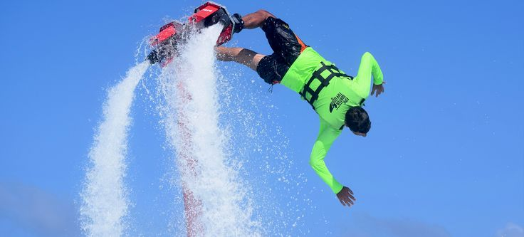 Flyboard is the most extreme tour in Cancun. the newest activity in the destination. Are you ready to surf the skies? At Epic Water Toys, flying is possible