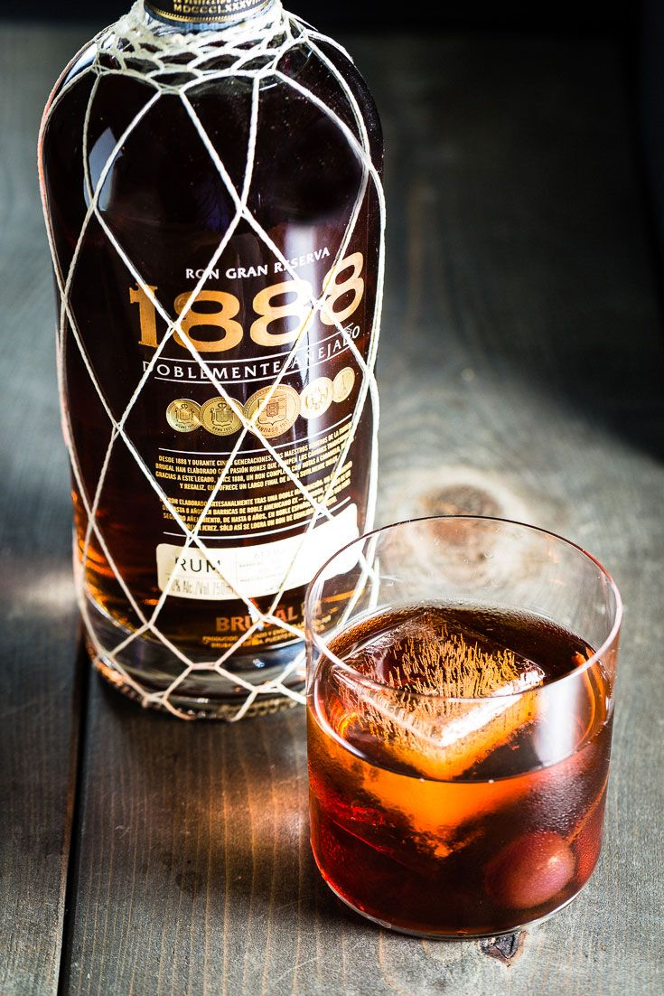Rum Manhattan Cocktail. A Manhattan is a classic cocktail that can transport you to a scene in Mad Men sitting next to Don Draper. Since everything is better with rum, we're going to put a little riff on this classic cocktail by swapping in some super smooth 1888 Rum for the traditional Bourbon as the spirit. #rum #manhattan #cocktail #recipes #ad