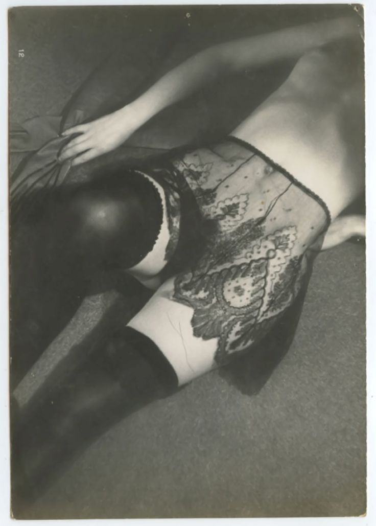 Diana slip lingerie brand from 20's & 30's with high end S & M aesthetic long before the modern bondage trend - photographer BRASSAI