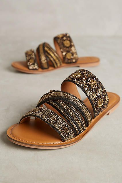 Jasper & Jeera Beaded Sanur Sandals. These sandals are beautifully embellished and dying to be whisked away on a summer holiday!