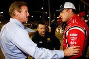 Ryan Newman talks with Tony Stewart & Rusty Wallace after the Federated Auto Parts 400 in Richmond