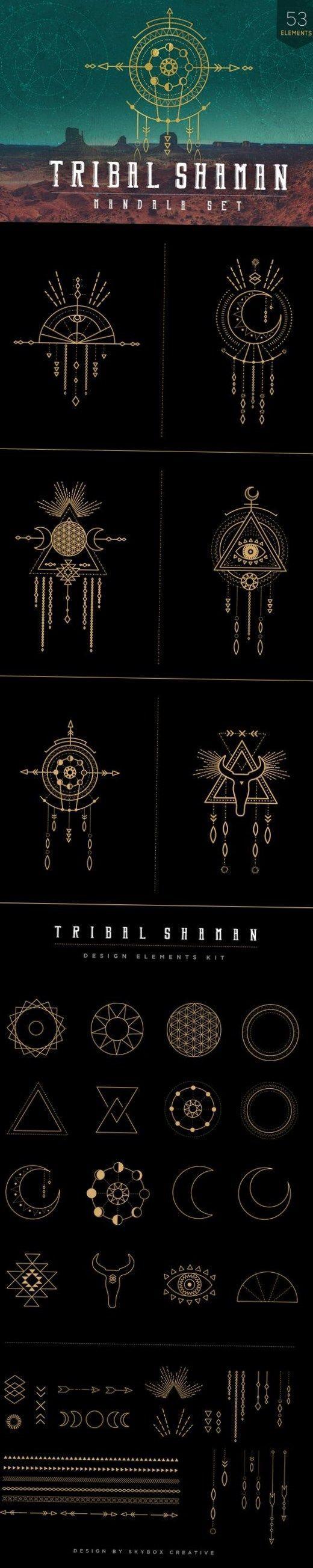 Mandala Set – Tribal Shaman