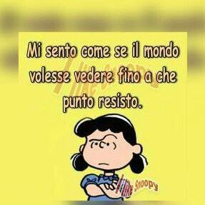 Mafalda. Faccio i conti tutti i giorni con la vita.