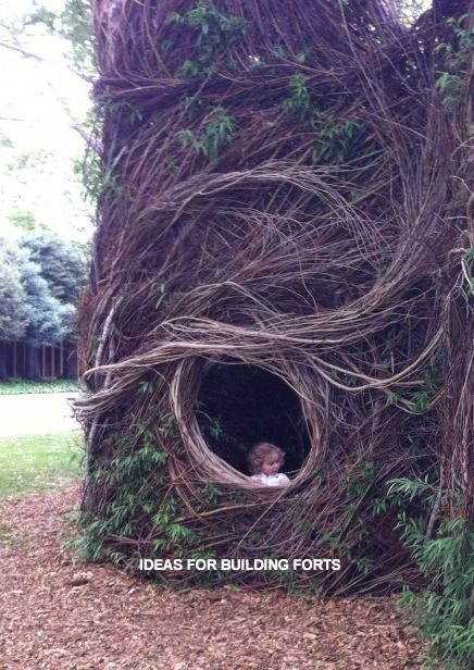 Best 20 kid forts ideas on pinterest for Homemade forts outdoors