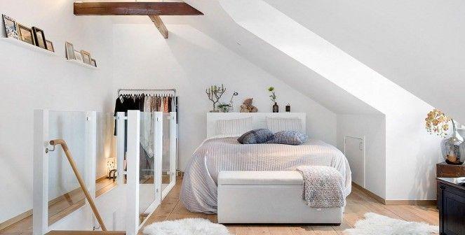 Een slaapkamer met schuin plafond inrichten: zó doe je dat